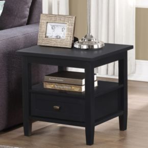 Simpli Home Warm Black Shaker End Table