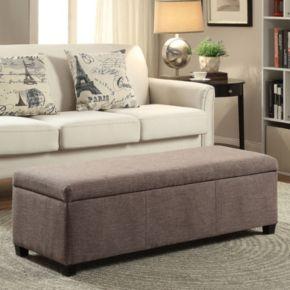 Simpli Home Avalon Upholstered Storage Ottoman