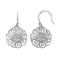 Dayna U Ohio State Buckeyes Sterling Silver Drop Earrings