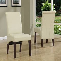 Simpli Home 2 pc Avalon Deluxe Parson Chair Set