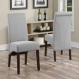 Simpli Home Avalon Linen Deluxe Parson Chair 2-piece Set