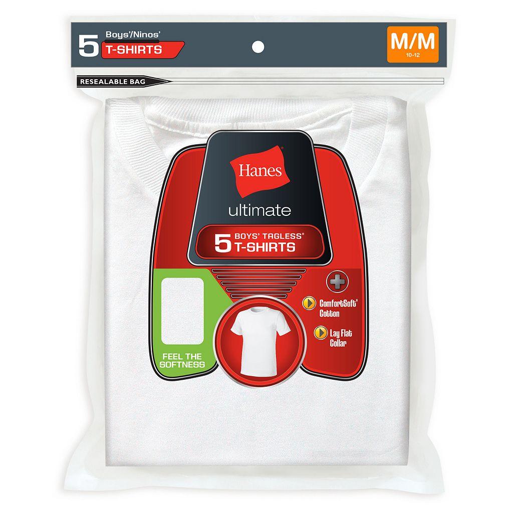 Boys Hanes 5-Pack Ultimate Tees