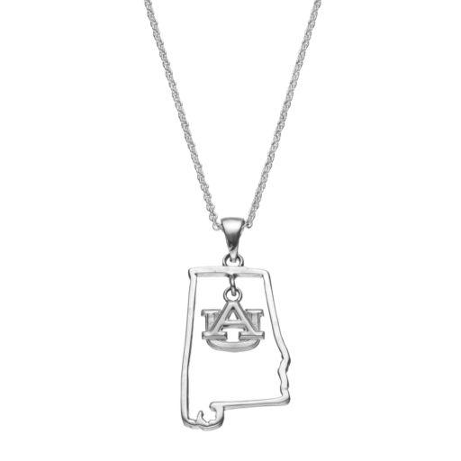 Dayna U Auburn Tigers Sterling Silver Pendant Necklace