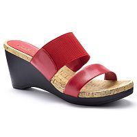 Chaps Rhoda Women's Slip-On Wedge Dress Sandals