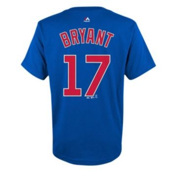 Majestic Chicago Cubs Kris Bryant Player Name and Number Tee - Boys 8-20