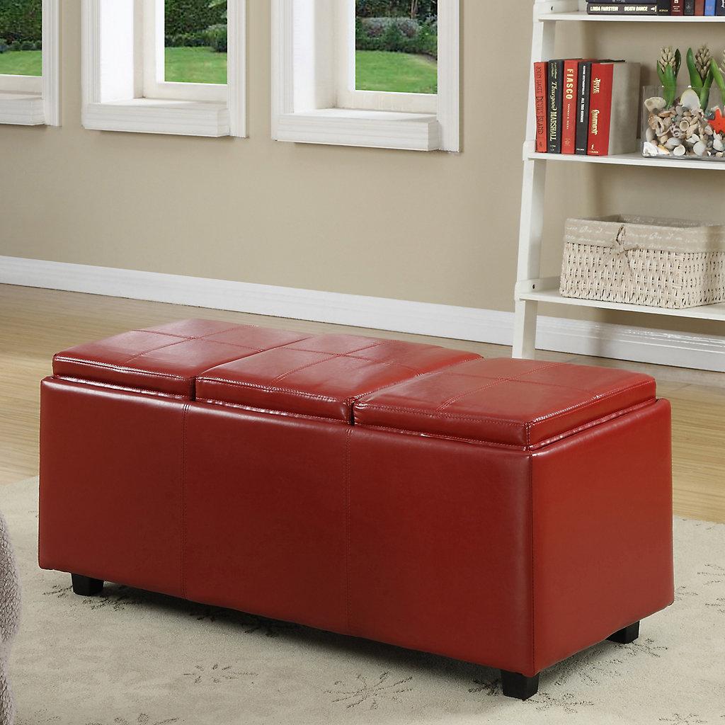 Incredible Simpli Home Avalon Rectangular Storage Ottoman Short Links Chair Design For Home Short Linksinfo