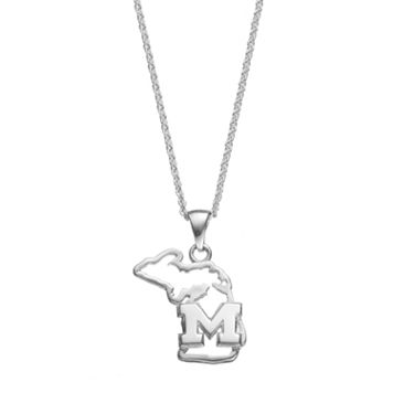 Dayna U Michigan State Wolverines Sterling Silver Pendant Necklace