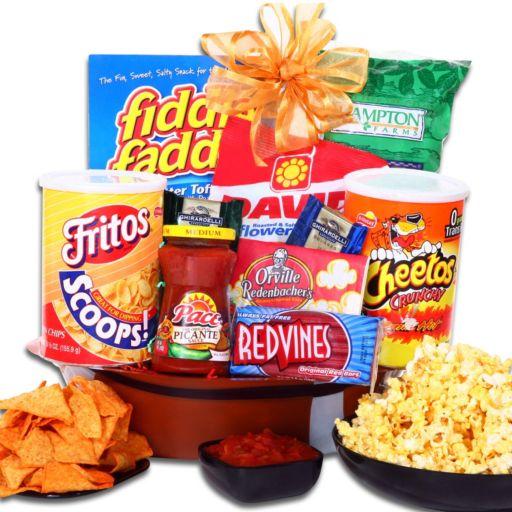 """Alder Creek """"Game On!"""" Football Snack Gift Basket"""