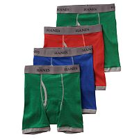 Boys Hanes Ultimate 4-Pack Ringer Boxer Briefs