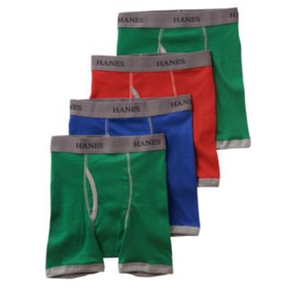 Boys Hanes Ultimate 4-Pack Ringer Boxer Briefs