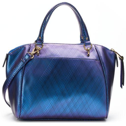 Juicy Couture Diagonal Zipper Satchel
