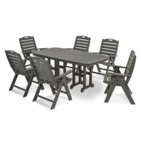 POLYWOOD® Nautical 7-piece Outdoor Dining Set