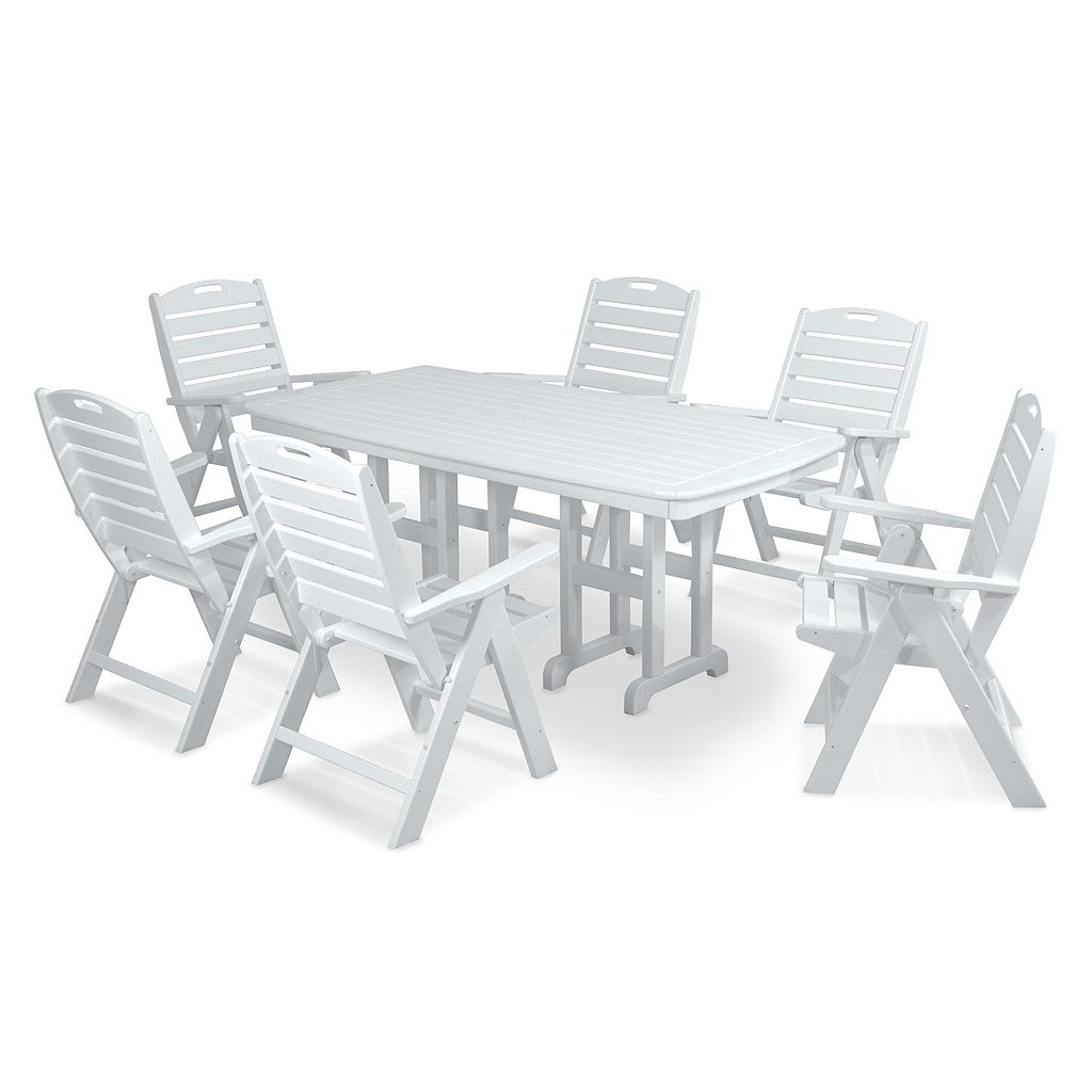 POLYWOOD® Nautical 7-piece Outdoor Dining Set