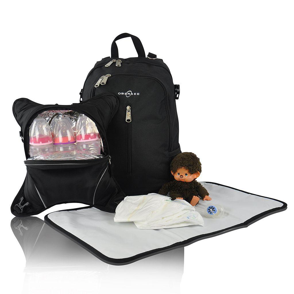Obersee Rio Diaper Bag Backpack & Cooler Set