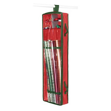 Whitmor Hanging Red Gift Wrap Organizer