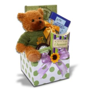 Alder Creek Feel Better Soon Get Well Gift Box with Bear Plush