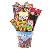 Alder Creek Get Well Soon Pail Gift Set for Kids