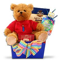 Alder Creek Happy Birthday Gift Box with Bear Plush