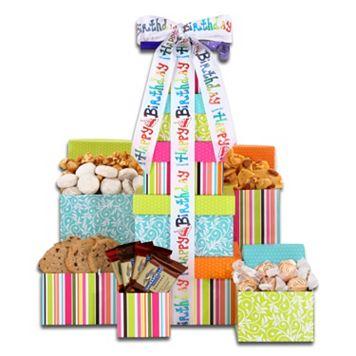 Alder Creek Happy Birthday Treats Tower Gift Set