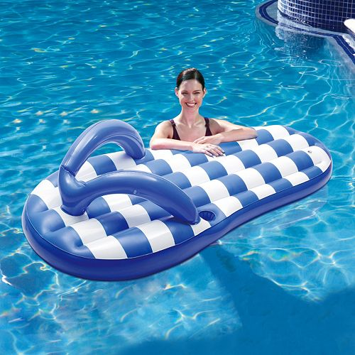 Blue Wave Flip Flop 71-in. Inflatable Pool Float