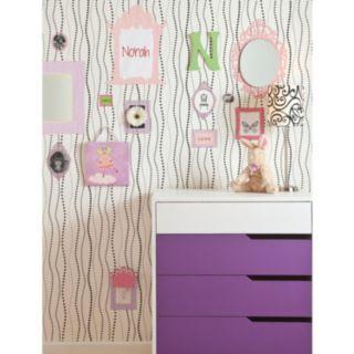 Peek-A-Boo Dotty Stripe Ultra Removable Wallpaper