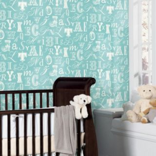 Peek-A-Boo Word Play Ultra Removable Wallpaper