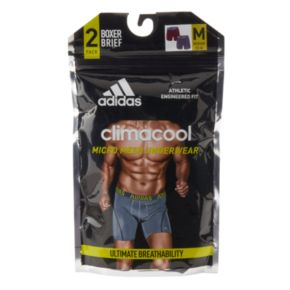 Men's adidas 2-pack ClimaCool Solid Boxer Briefs