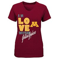Girls 7-16 Minnesota Golden Gophers In Love Tee