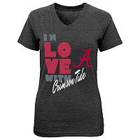 Girls 7-16 Alabama Crimson Tide In Love Tee