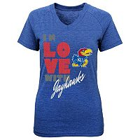 Girls 7-16 Kansas Jayhawks In Love Tee
