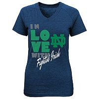 Girls 7-16 Notre Dame Fighting Irish Pave Tee