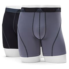 Men's adidas 2-pack ClimaLite Sport Performance Solid Boxer Briefs