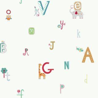 Peek-A-Boo Alphabet Animal Ultra Removable Wallpaper