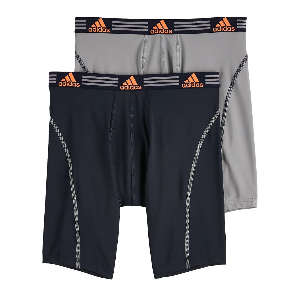 Men's adidas 2-pack ClimaLite Sport Performance Solid Midway Briefs