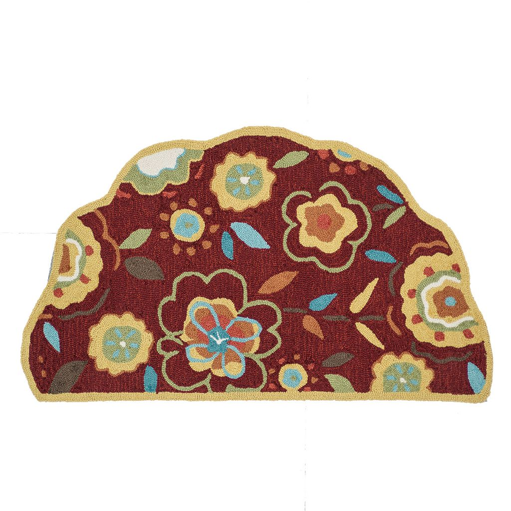 Loloi Summerton Red Yellow Floral Rug