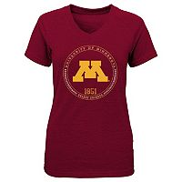 Girls 7-16 Minnesota Golden Gophers Team Medallion Tee