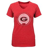 Girls 7-16 Georgia Bulldogs Team Medallion Tee