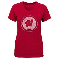 Girls 7-16 Wisconsin Badgers Team Medallion Tee
