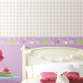 Peek-A-Boo Clothesline Of Patterned Hearts Border