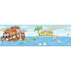 Peek-A-Boo Noah's Ark Ultra Removable Border