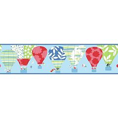 Peek-A-Boo Hot Air Balloon Ultra Removable Border