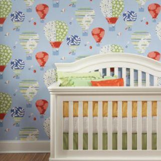 Peek-A-Boo Hot Air Balloon Wallpaper