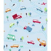 Peek-A-Boo Around Town Ultra Removable Wallpaper
