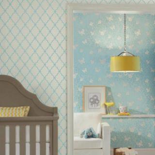 Peek-A-Boo Butterfly Garden Wallpaper