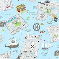 Peek-A-Boo Pirate Map Wallpaper