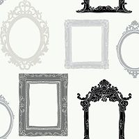 Peek-A-Boo Picture Gallery Ultra Removable Wallpaper