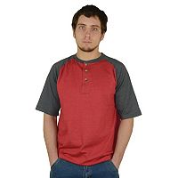 Men's Stanley Classic-Fit Colorblock Raglan Performance Baseball Henley