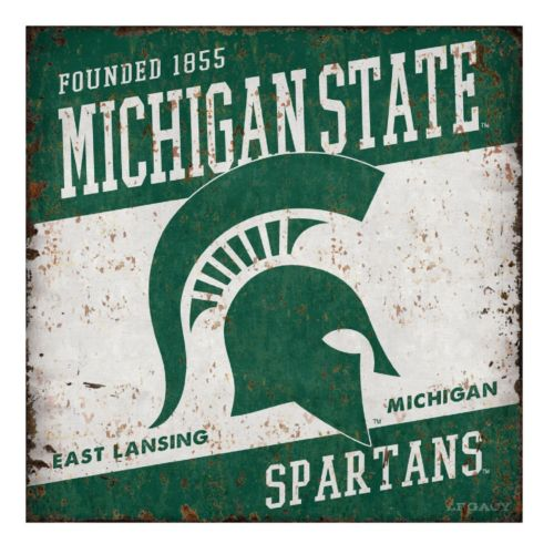 Legacy Athletic Michigan State Spartans Large Tin Sign