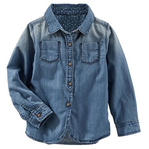 Girls 4-8 OshKosh B'gosh® Chambray Button-Down Shirt