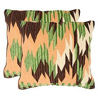 Safavieh Zigzag 2 pc Throw Pillow Set